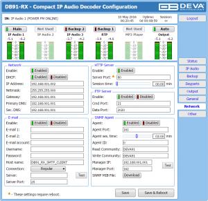 db91-rx web interface