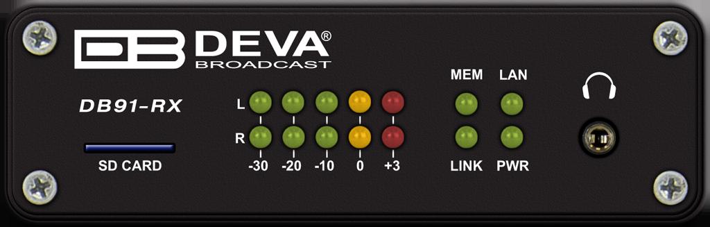 DB91-RX Nuevo decodificador de audio Deva Broadcast